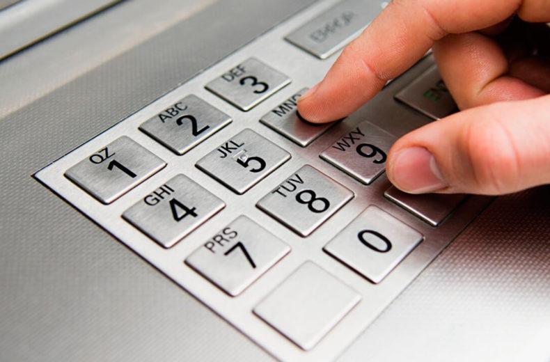 Неправильный ввод пин-кода банковской карты